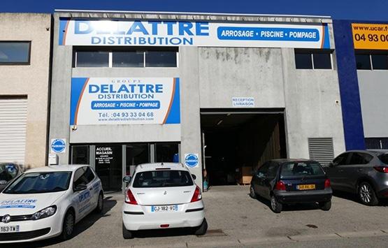 Plan Delattre Distribution Vallauris
